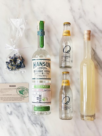 DIY Inked Vodka Tonic Cocktail Kit