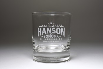 10oz Hanson Engraved Old Fashioned Glass