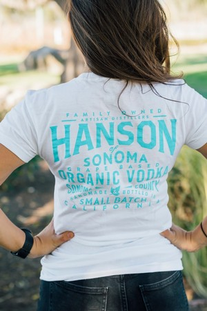 Hanson White and Blue Shirt Womens
