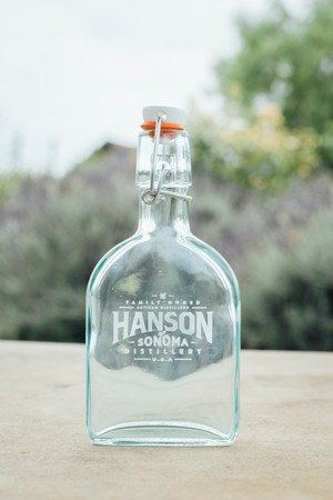 Hanson Engraved Glass Flask